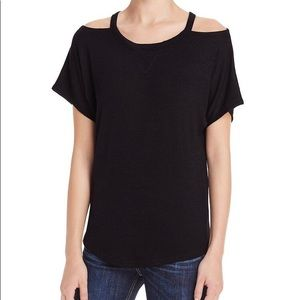 Rag & Bone black cut out shoulder top S